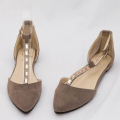 Amaiya Elegance Nude Color Pointed Toes Ballerina Ladies Shoes