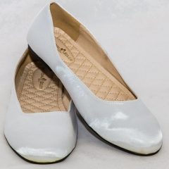 Amaiya Elegance Trendy Silver Ballerina Ladies Shoes white 43
