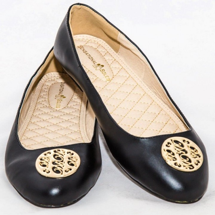 Amaiya Elegance Classy Black Ballerina Ladies Shoes