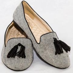 Amaiya Elegance Classy Zebra Striped Ballerina Ladies Shoes