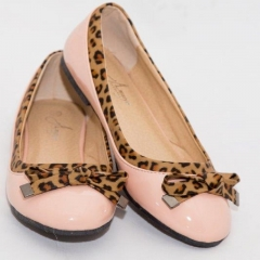 Amaiya Elegance Trendy Peach Animal Print Ballerina Ladies Shoes 40