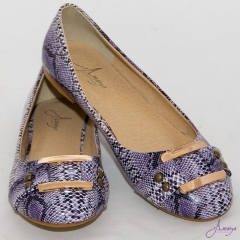Amaiya Elegance Snake Print With A Buckle Doll Ladies Shoes