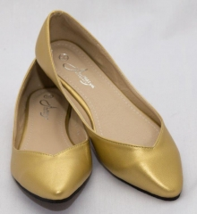 Amaiya Elegance pointy toe with low cut design on the sides Gold 42