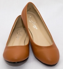 Amaiya Elegance round toe doll shoe deep brown 39