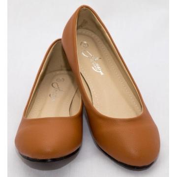 Amaiya Elegance round toe doll shoe deep brown 39