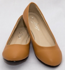 Amaiya Elegance round toe doll shoe tan brown 39