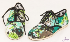Black flowery rubber shoes multi colour 39
