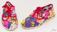 pink flowery rubber shoes multi colour 39