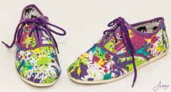 purple flowery rubber shoes multi colour 39