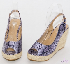 purple snake skin wedge purple 39