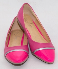 Amaiya Elegance  Ballerina Ladies Shoes- pointy pink with silver detail pink 39