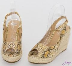Amaiya Elegance Classic Wedge  snakeskin Ivory snakeskin ivory 40