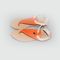 Amaiya Elegance  sandal shoes ivory orange 42