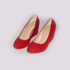 Amaiya Elegance suede red wedge red 36