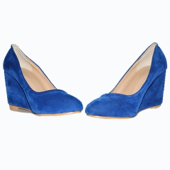 Amaiya Elegance suede blue wedge blue 36