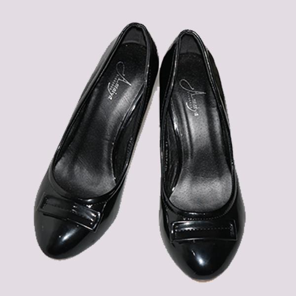 Amaiya Elegance  black patent wedge shoe black 36