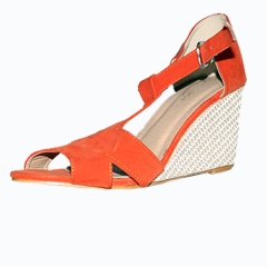 Amaiya Elegance  suede orange wedge shoes orange 36