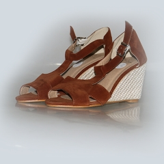 Amaiya Elegance suede brown wedge brown 36