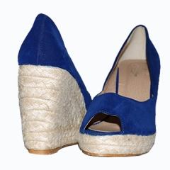 Amaiya Elegance  peep slin Aqua Blu blue 36