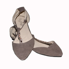 Amaiya elegance Grey pointy with ankle straps shoes Grey 39