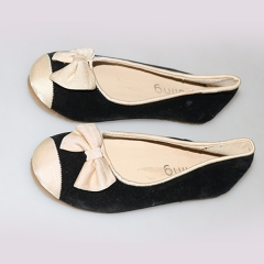 Amaiya Elegance  suede black +cream front shoes black +cream 25