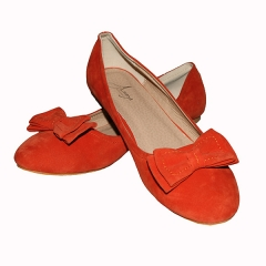Amaiya Elegance Burnt Orange Bow Doll Ladies Shoes ivory orange 39