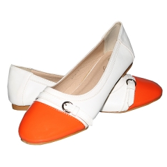 Amaiya Elegance  Classy orange front ivory back  Ladies Shoes ivory orange 39