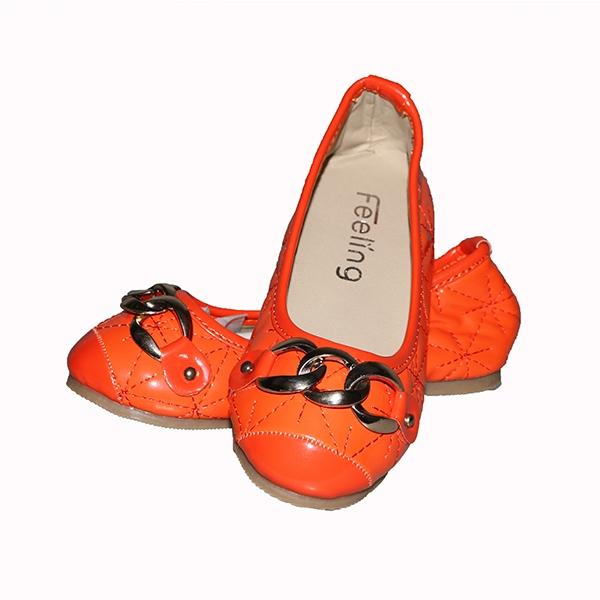 Amaiya elegance PU closed Bright orange Kids shoes Orange 25