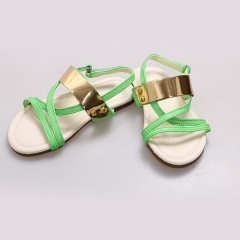 Amaiya elegance PU open Lime kids  shoes Lime 25