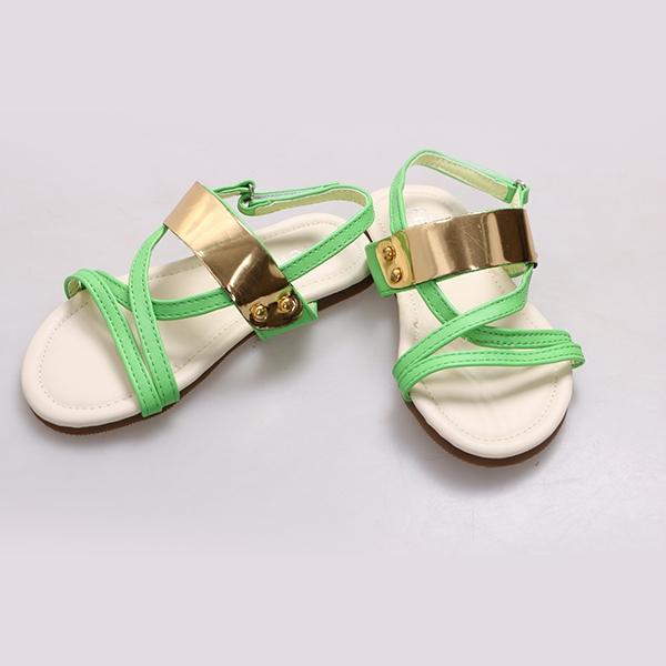 Amaiya elegance PU open Lime kids  shoes Lime 25