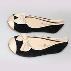 Amaiya Elegance suede black+ creame front black +cream 26