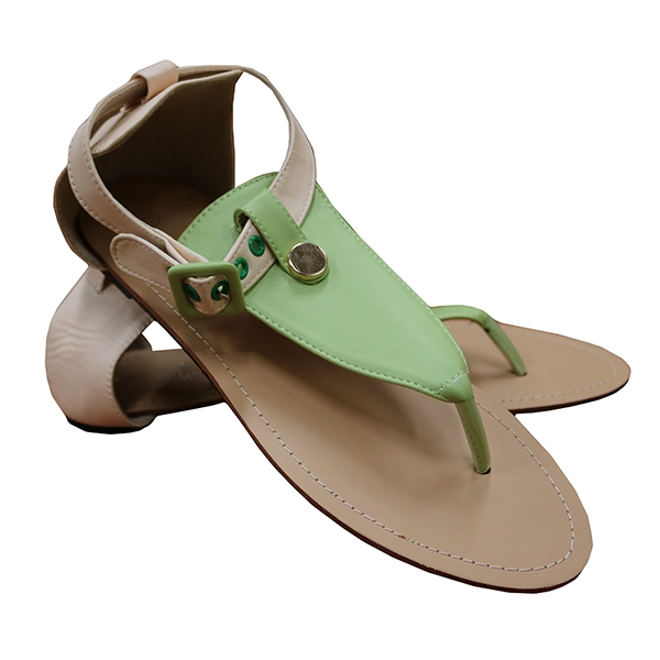 Amaiya elegance Ladies sandals ivory Green 39