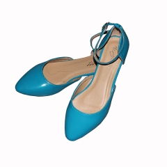 Amaiya elegance Blue pointy with ankle straps shoes blue 39