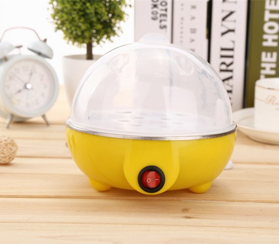 7 egg multi - functional egg steamer boilers automatic power off intelligent quick boiled egg yellow