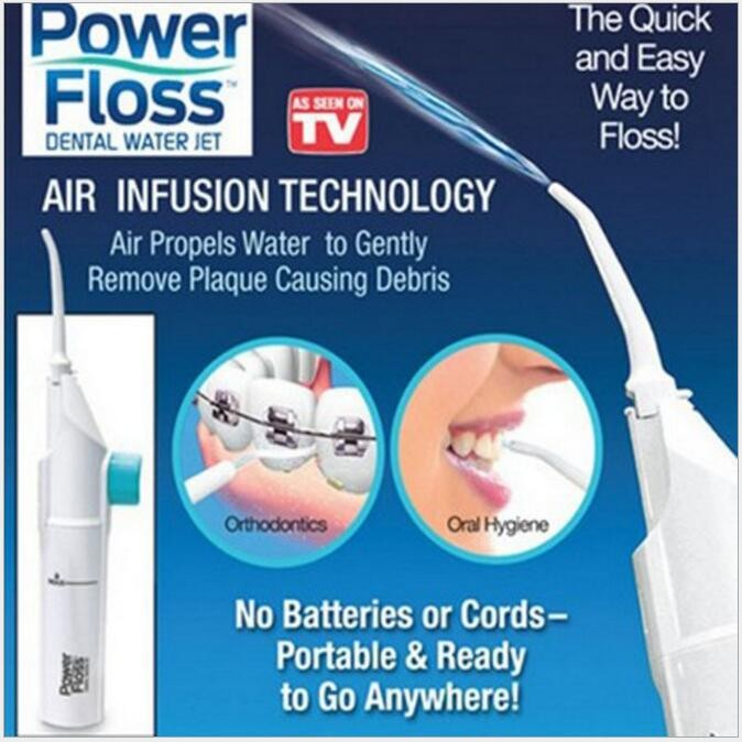 Scalp punching tooth portable dentist Power Floss water flossing white onesize