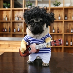 Pet Dog Dress Up Costume Party Fun Cosplay Clothes Guitarist Costumes Bago Outside Clothes muliticolor xl