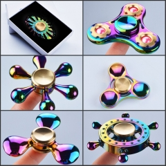Colorful Rainbow Stress Relife Toy Metal Gyro Fidget Hand Spinner long time to sipn F