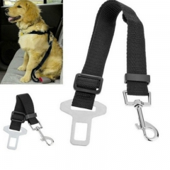 Makit Pet Dog Car Safety Belt Retractable Seat Belt Traction red one size