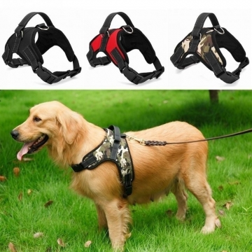 Professional Pet Dog Adjustable Breathable Harness Collar Puppy Outdoor Strap Leash green l