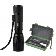 1000 Lumens Adjustable Focus Zoomable Flashlight Torch, 5 Modes LED Flashlights Torch Black 3