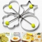4-Shape Fried Egg Rings Non Stick Stainless Steel Pancake Mold Cooking Tools