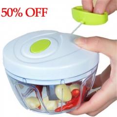 Kitchen Tool Manual Chopper Garlic Cutter Slicer Vegetable Fruit  Mixer  Shredder Meat Grinder white