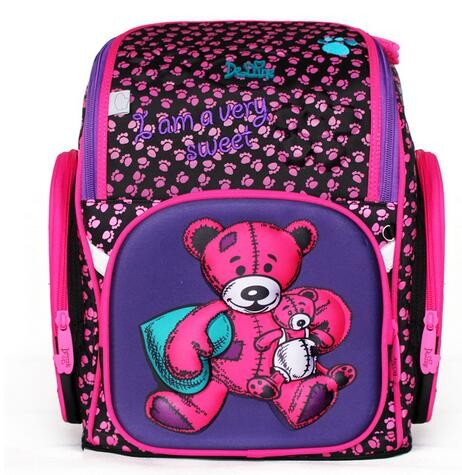 7b2d61750a08 DELUNE Children Cartoon 3D Bear Flower Racing Car Pattern Girls Boys School  Bags School Backpacks 6