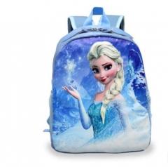 Cartoon Princess Elsa School Bags for Girls Children Mini Schoolbag Kids sky  blue