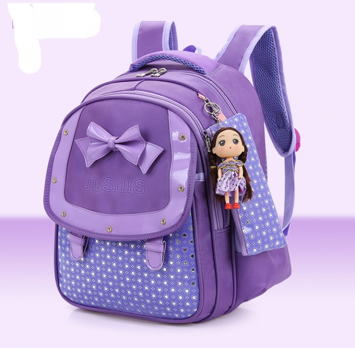 2c7efd6f9845 Cute Girls Backpacks Kids Satchel Children School Bags For Girls Orthopedic  Waterproof Backpack purple