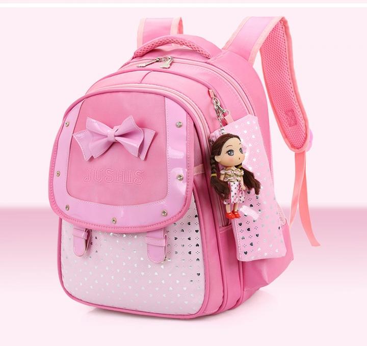 2fa8d564a559 Cute Girls Backpacks Kids Satchel Children School Bags For Girls Orthopedic  Waterproof Backpack pink