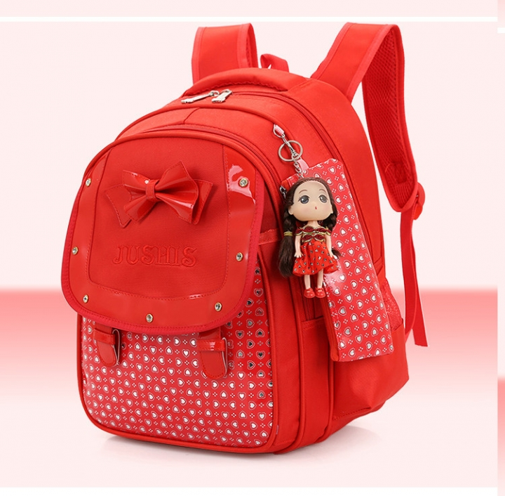 72f1c8b61ddf Cute Girls Backpacks Kids Satchel Children School Bags For Girls Orthopedic  Waterproof Backpack red