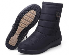 SNOW BOOTS 2016 WOMEN WINTER BOOTS MOTHER SHOES ANTISKID WATERPROOF FLEXIBLE AUTUMN SPRING FASHION black US6