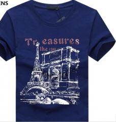 Men Tee Shirt Homme Summer Short Sleeve Casual Men's T Shirts Male TShirts Camiseta 3D T shirt blue S