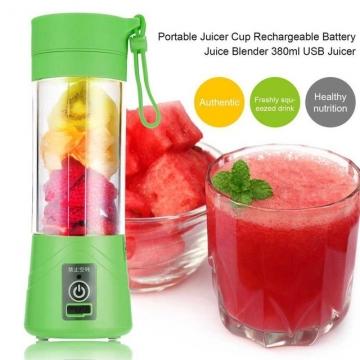 Mini Portable Juicer Cup Rechargeable Blender USB Juicer for vegetables fruit  Reamers Bottle green #01